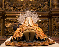 Sleeping Mary in Cathedral Palma de Mallorca Royalty Free Stock Images