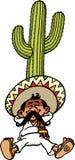 Sleeping Mexican royalty free illustration