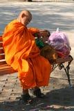 Sleeping monk Royalty Free Stock Photos