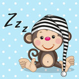Sleeping monkey Royalty Free Stock Photography
