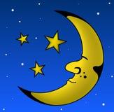 Sleeping Moon Stock Image