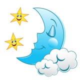 Sleeping Moon Stock Photo
