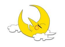 Sleeping moon Stock Photography