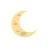 Sleeping moon cartoon Royalty Free Stock Photography