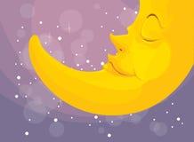 Sleeping moon Royalty Free Stock Photo