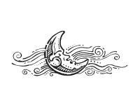 Sleeping moon Royalty Free Stock Image