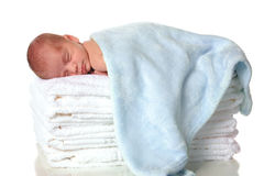 Sleeping Newborn Stock Image
