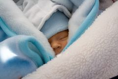 Sleeping Newborn Stock Photo