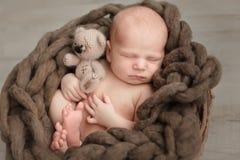 Free Sleeping Newborn Baby Royalty Free Stock Image - 109821456