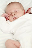 Sleeping newborn baby Stock Photography