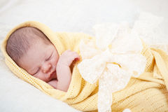 Sleeping newborn baby Royalty Free Stock Images