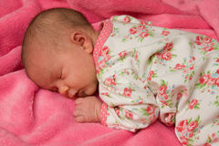 Sleeping newborn baby Royalty Free Stock Photo
