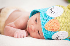 Sleeping  newborn baby (at the age of 14 days) Royalty Free Stock Image