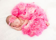 Sleeping  newborn baby Stock Image