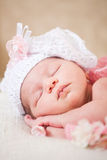 Sleeping  newborn baby (at the age of 14 days) Stock Images