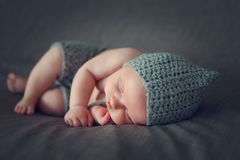 Sleeping newborn baby Royalty Free Stock Image