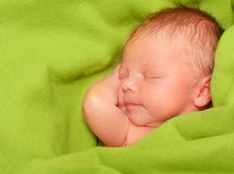 Sleeping Newborn Baby Boy Stock Photography