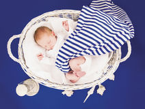Sleeping Newborn Baby Royalty Free Stock Photography