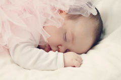 Sleeping Newborn Baby Girl Stock Photography