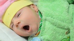 Sleeping Newborn Cute Baby Closeup stock video footage