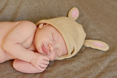Sleeping newborn Royalty Free Stock Image