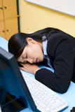 Sleeping in office Stock Photography