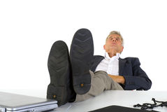 Sleeping at the office Stock Photo