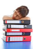 Sleeping office worker Stock Photos