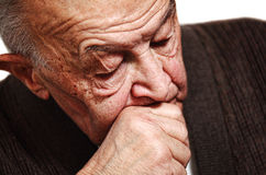 Sleeping old man Stock Image