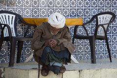 Sleeping old man, Morocco Royalty Free Stock Photos