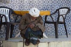 Sleeping old man, Morocco Royalty Free Stock Photos