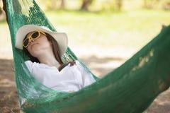 Sleeping outdoors Royalty Free Stock Photos