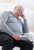 Sleeping overweight  seniorman portrait Royalty Free Stock Images