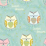 Sleeping owl Royalty Free Stock Images