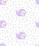 Sleeping panda pattern Royalty Free Stock Image