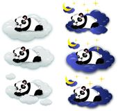 Sleeping pandas Royalty Free Stock Photography