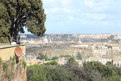 Sleeping on a parapet in Rome Stock Images
