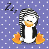 Sleeping Penguin Royalty Free Stock Photography