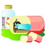 Sleeping pill Royalty Free Stock Photography