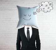 Sleeping pillow head Royalty Free Stock Photography