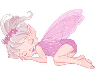 Sleeping pixy fairy Royalty Free Stock Images