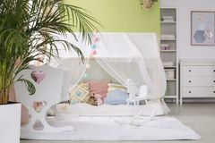 Sleeping place for baby royalty free stock photo