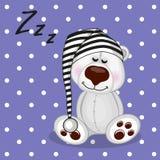 Sleeping Polar Bear Royalty Free Stock Images