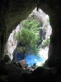 Sleeping  pool inside The  Chinhoyi caves  in  Zimbabwe. Stock Photo