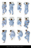 Sleeping positions. A series of sleeping positions. Also see part two with 11 more positions Stock Photo