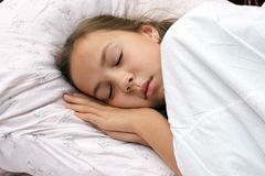 Sleeping preteen girl Royalty Free Stock Images