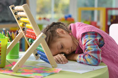Sleeping preteen girl Royalty Free Stock Photography