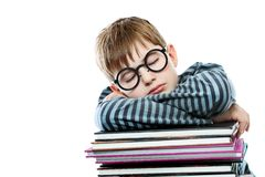 Sleeping pupil Royalty Free Stock Photography