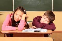 Sleeping pupils Royalty Free Stock Images