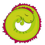 Sleeping reptile icon Stock Photography